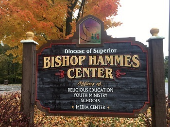 Sign for Bishop Hammes Center Building